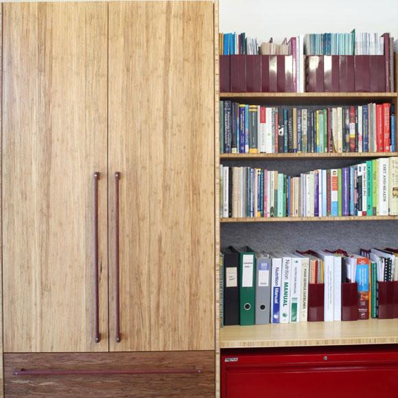 select custom joinery bookshelves home office
