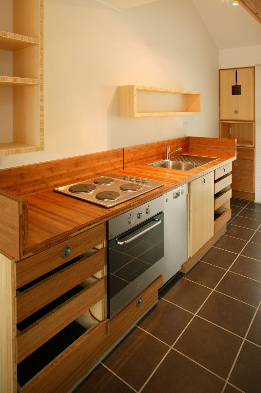 Select custom joinery award winning bamboo kitchen for Bamboo kitchen