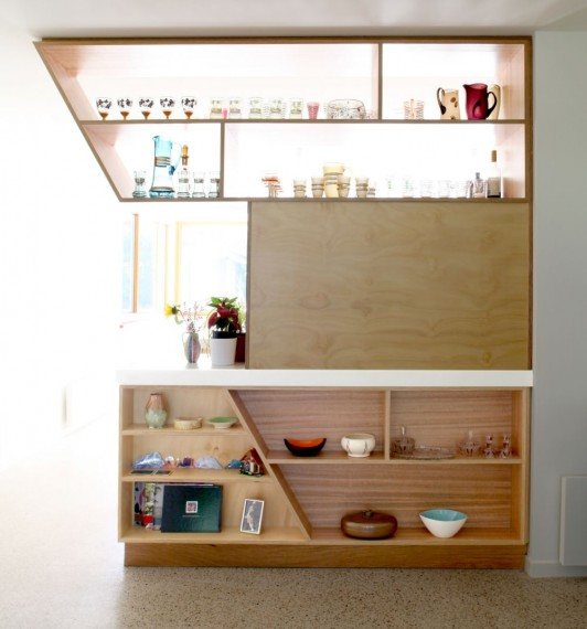 Plywood Kitchen With Concrete