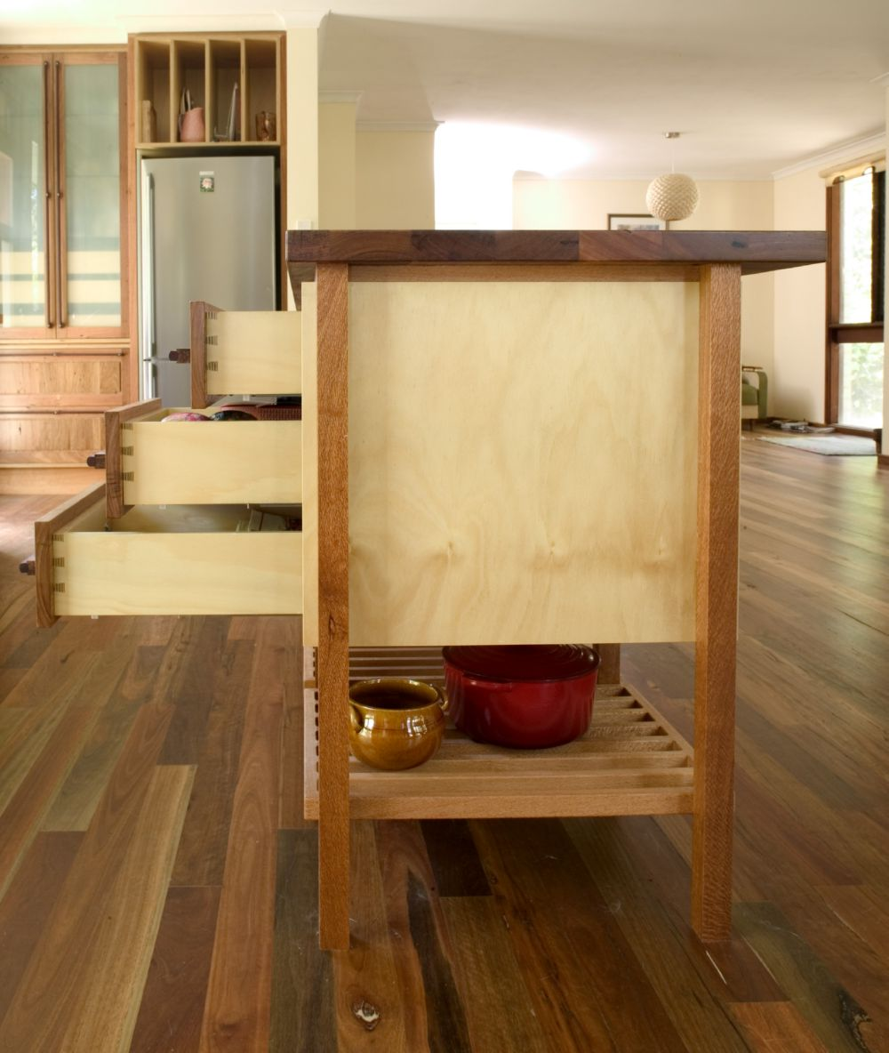 Silky Oak And Plywood Kitchen