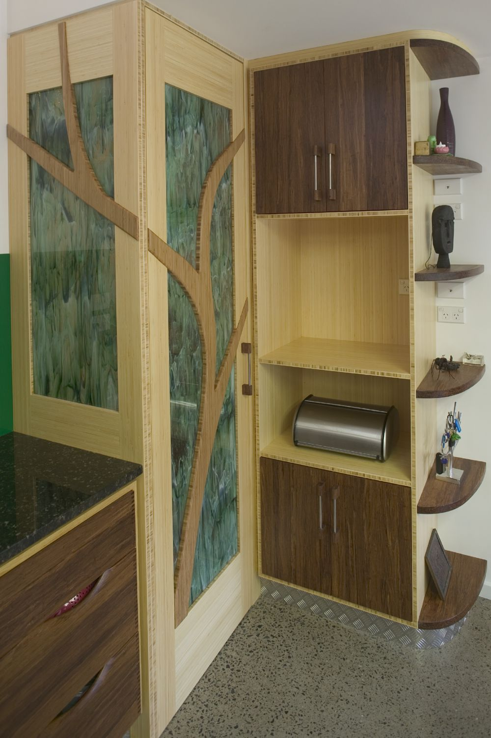 Select Custom Joinery Bamboo Kitchen With Tree Pantry