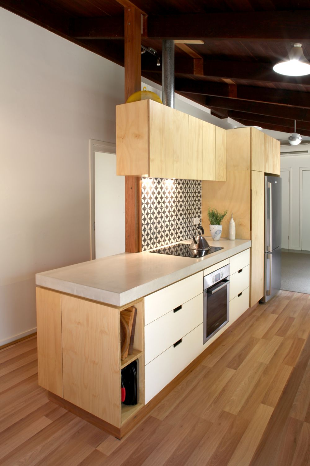 Select Custom Joinery | Plywood kitchen with white osmo oil