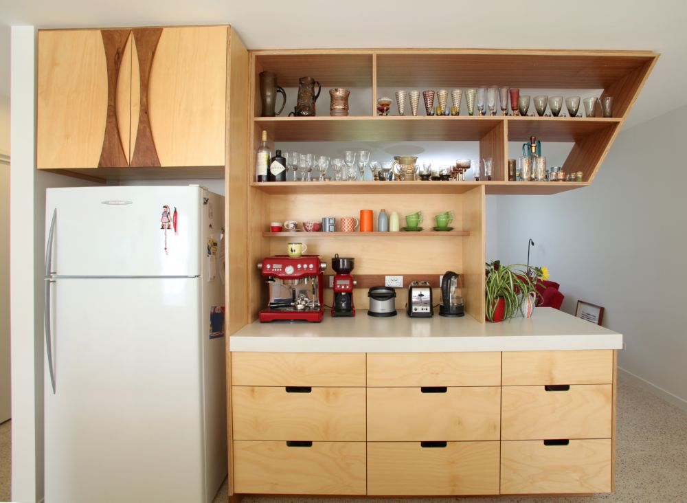 Open Shelving In The Kitchen Island