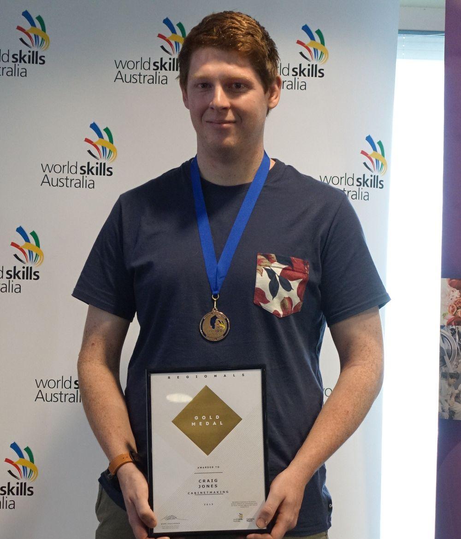 Winner Cabinetmaking WorldSkills Canberra
