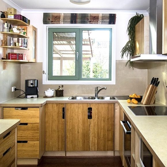 Natural strand bamboo Pezzo sustainable kitchen.